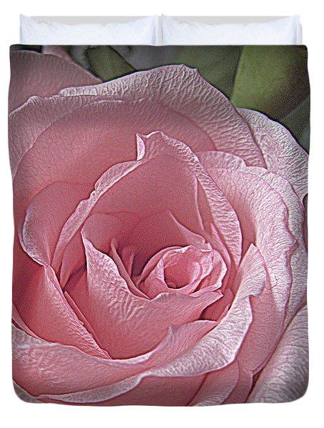 Pink Rose Bliss Duvet Cover