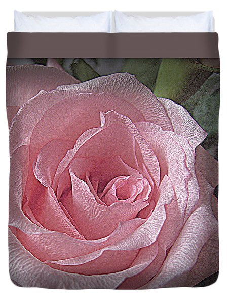 Pink Rose Bliss Duvet Cover