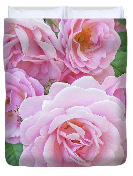 Pink Rose Cluster II Duvet Cover