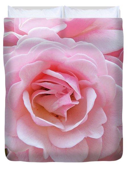 Pink Rose Cluster IIi Duvet Cover