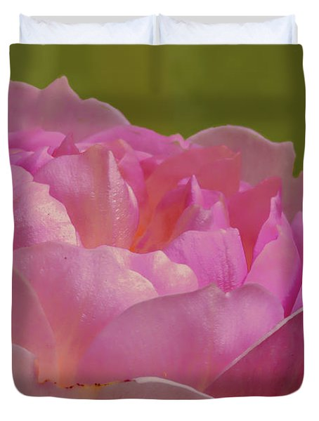 Duvet Cover featuring the photograph Pink Rose #d3 by Leif Sohlman