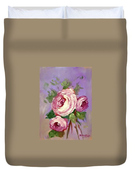 Pink Rose Duvet Cover by Janet Garcia