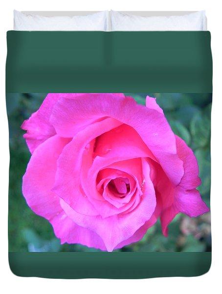 Pink Rose Duvet Cover by John Parry