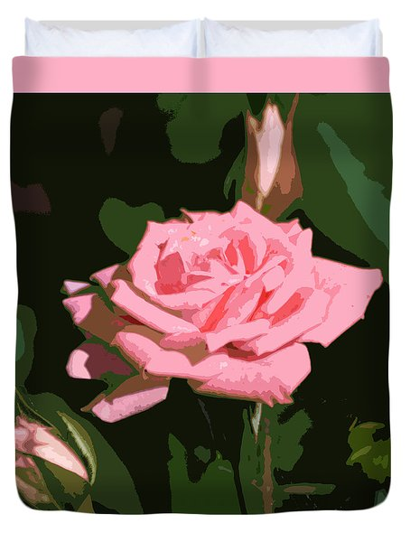Duvet Cover featuring the photograph Pink Rose  by Kathleen Stephens