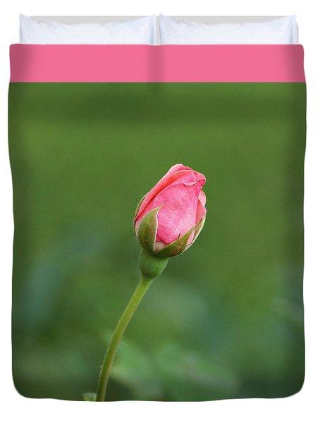 Pink Rosebud Duvet Cover
