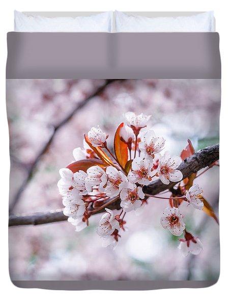 Pink Sakura Cherry Blossom Duvet Cover