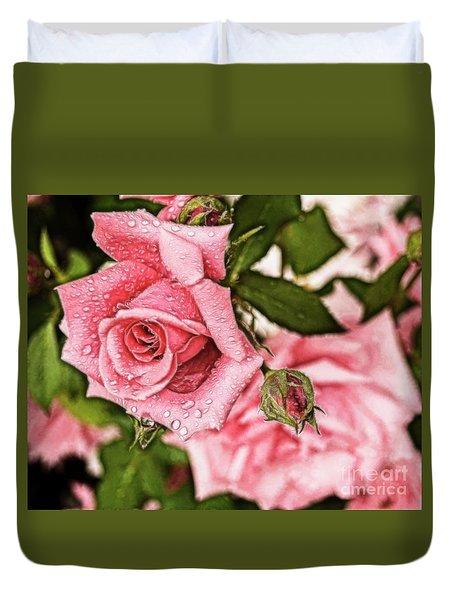 Pink Serenity Duvet Cover