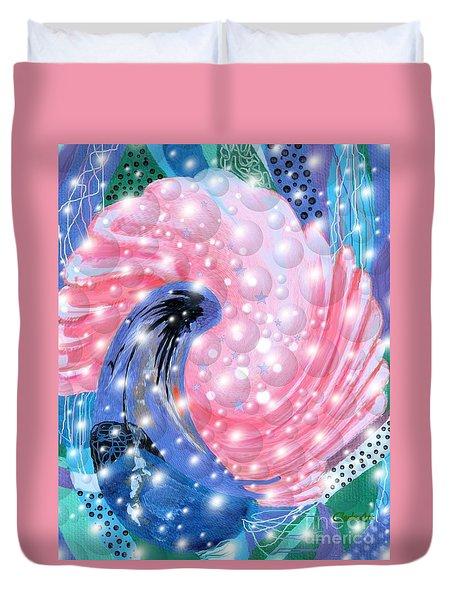 Pink Shell Fantasia Duvet Cover