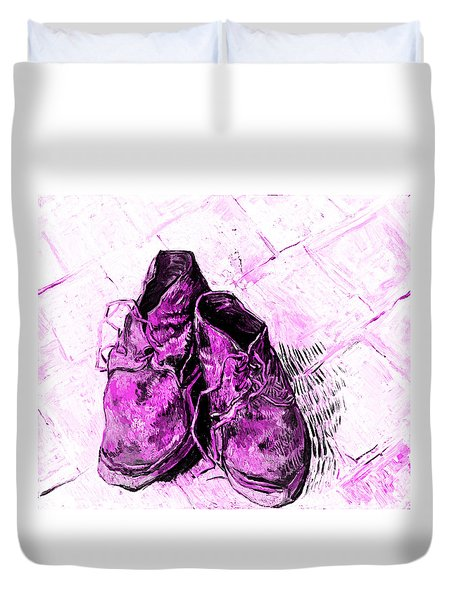 Pink Shoes Duvet Cover by John Stephens