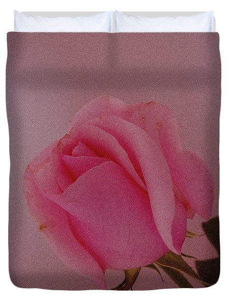 Pink Single Rose Duvet Cover