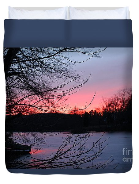 Pink Sky At Night Duvet Cover by Jason Nicholas