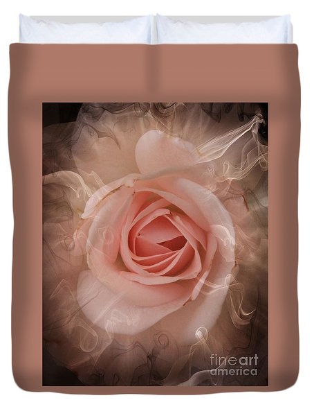 Pink Smokey Duvet Cover by Clare Bevan