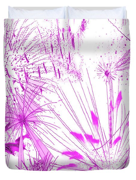 Duvet Cover featuring the digital art Pink Splash Watercolor by Methune Hively