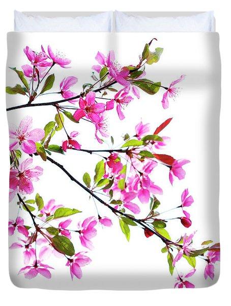 Pink Spring Duvet Cover by Marilyn Hunt