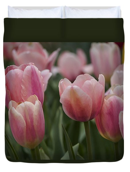 Pink Spring Duvet Cover by Penny Lisowski