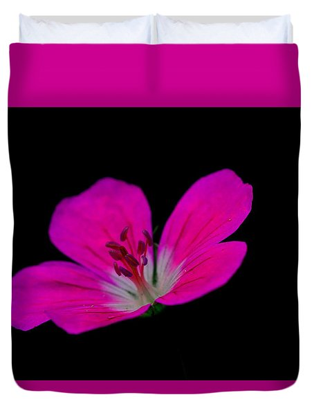 Pink Stamen Duvet Cover by Richard Patmore