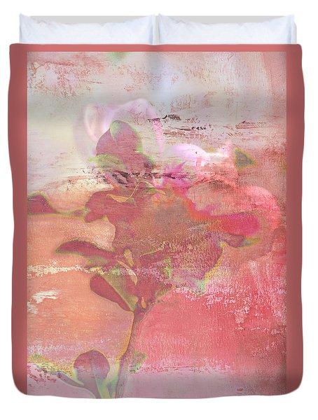 Pink Striped Tulip Flower Duvet Cover