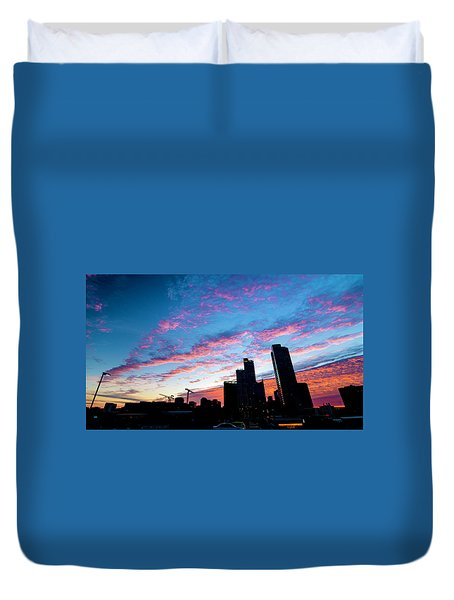 Pink Sunrise Duvet Cover