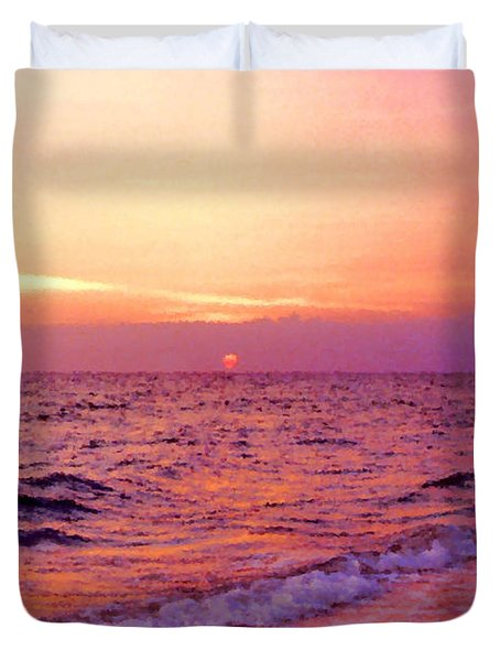 Pink Sunrise Duvet Cover by Kristin Elmquist