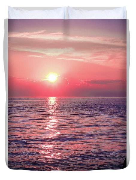 Pink Sunset Duvet Cover