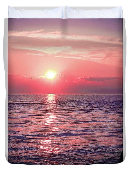 Pink Sunset Duvet Cover by Colleen Kammerer
