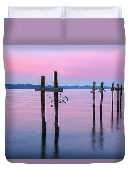 Pink Sunset Duvet Cover by Ryan Manuel
