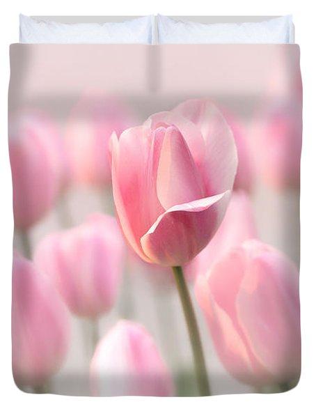 Pink Tulip Cloud Duvet Cover