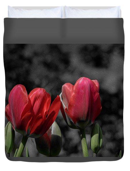 Pink Tulip Pop Duvet Cover