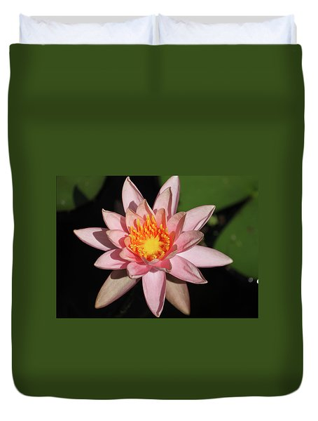 Pink Water Lily 2016 Duvet Cover by Suzanne Gaff