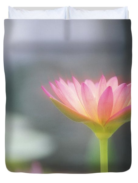 Pink Water Lily Duvet Cover by Ron Dahlquist - Printscapes