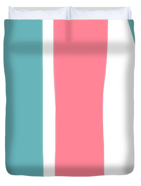 Pink White Blue 2 Duvet Cover