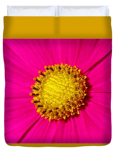 Duvet Cover featuring the photograph Pink Wildflower 008 by George Bostian