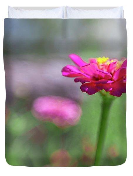 Pink Zinnia Duvet Cover