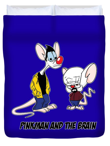 Pinkman And The Brain Breaking Bad Parody Pinky And The Brain Parody Breaking Bad Tv Show Duvet Cover