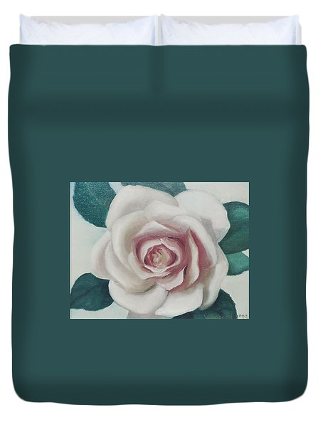 Pinky Flower Duvet Cover
