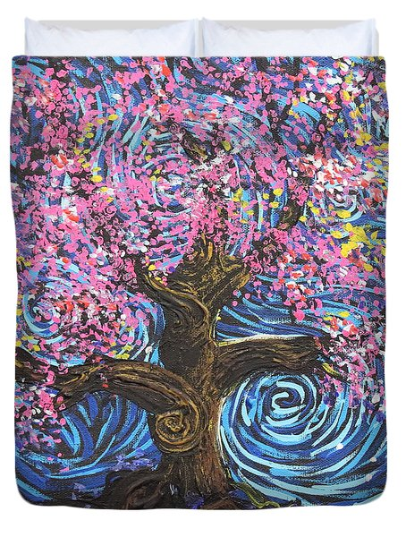 Pinky Tree Duvet Cover