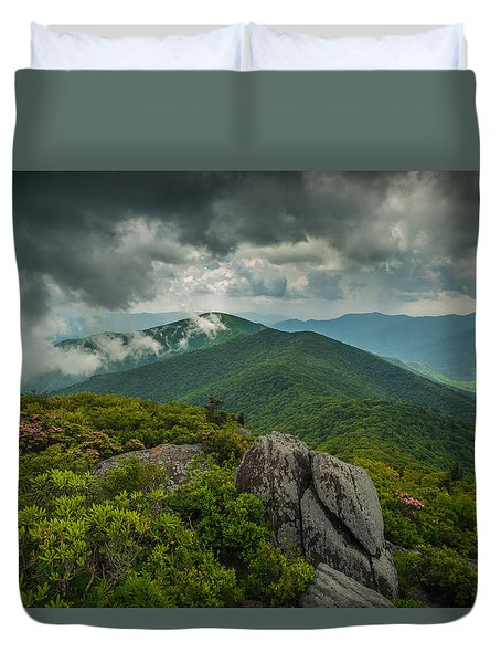 Duvet Cover featuring the photograph Pinnacle by Joye Ardyn Durham