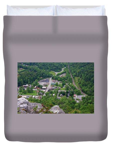 Pinnacle Overlook In Kentucky Duvet Cover