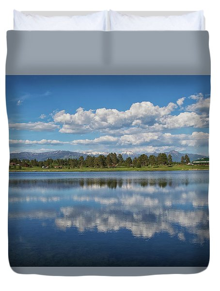 Pinon Lake Reflections Duvet Cover