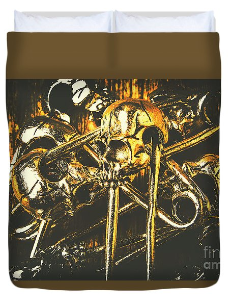Duvet Cover featuring the photograph Pins Of Horror Fashion by Jorgo Photography - Wall Art Gallery