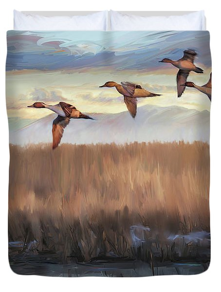 Pintail Fly By Duvet Cover