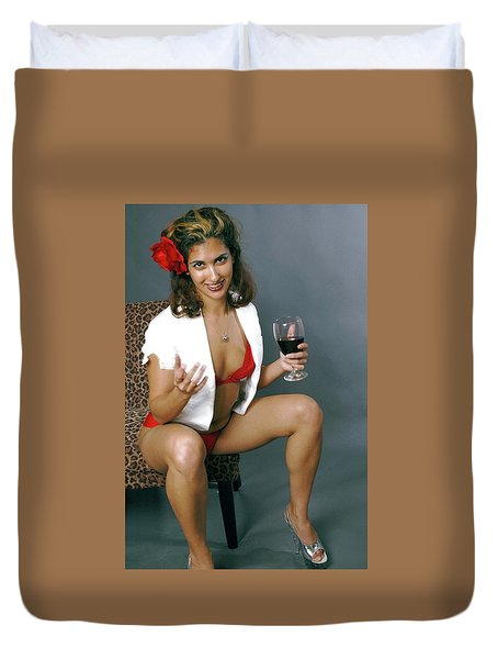 Pinup Babe Duvet Cover