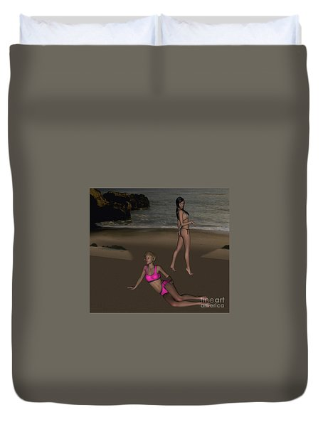 Pinups At Dusk Duvet Cover