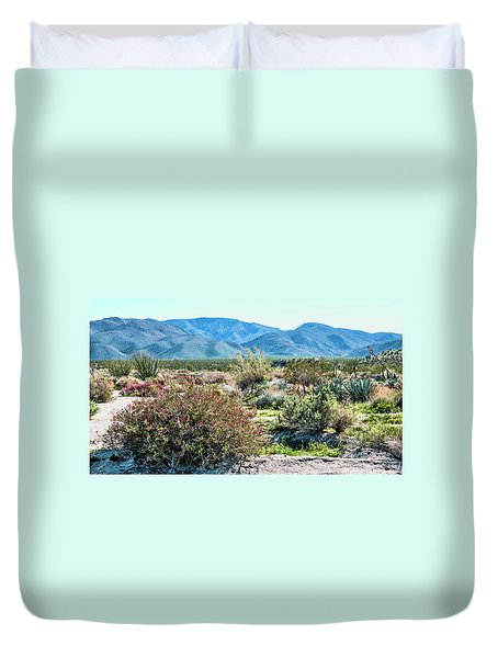Pinyon Mtns Desert View Duvet Cover