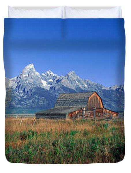 Pioneer Farm, Grand Teton National Duvet Cover