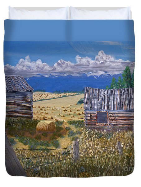 Pioneer Homestead Duvet Cover by Stanza Widen