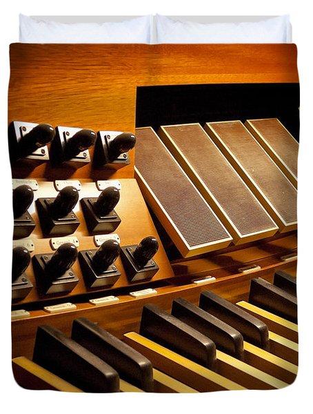 Pipe Organ Pedals Duvet Cover