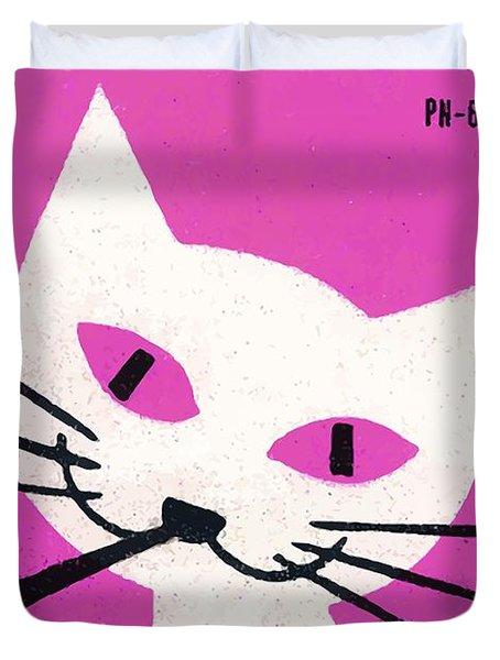 Pipe Smoking Cat Matchbox Label Duvet Cover