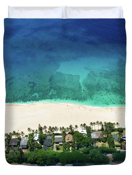 Pipeline Reef Overview Duvet Cover