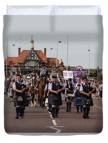 Pipers - St Annes Festival 2014. Duvet Cover